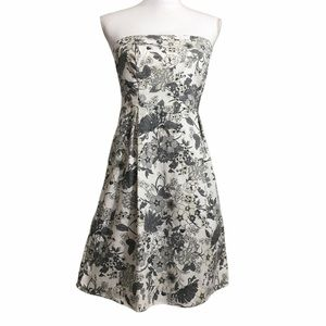 Old Navy floral strapless canvas dress. Sz 8
